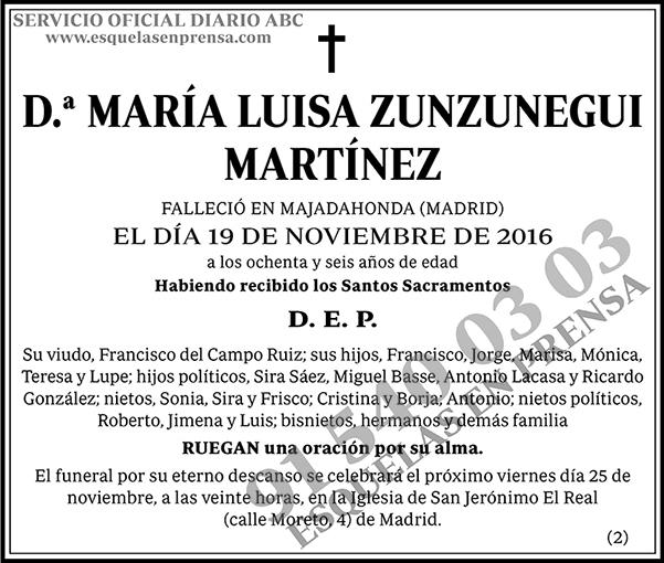 María Luisa Zunzunegui Martínez